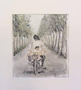 maalaus- ja piirustustöitä kansalaisopiston kevätnäyttelyssä