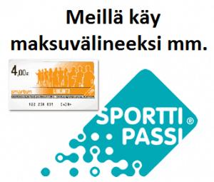 Harjulassa käy maksuvälineeksi Smartum-setelit ja Sporttipassi.