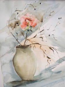 akvarellimaalauskursseja Lahden Harjulassa