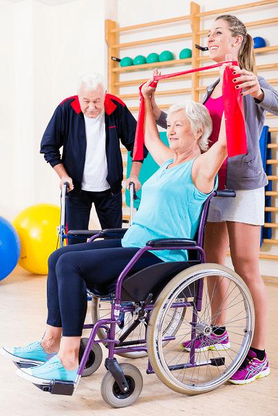 liikunta - fysioterapia -kuntoutus -pyoratuoli
