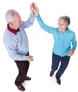 Seniorit tanssiliikunnan parissa