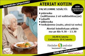 Harjulan ateriapalvelun sisältö