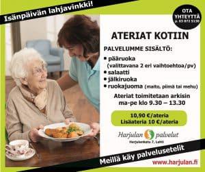 Harjulan ateriapalvelu toimittaa ateriat kotiin