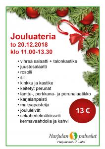 Jouluateria 2018