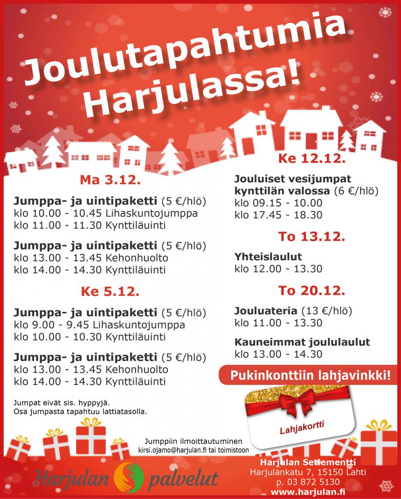 Harjula Joulutapahtumia Harjulassa