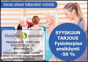 Syyskuun tarjouksena fysioterpiaa puoleen hintaan